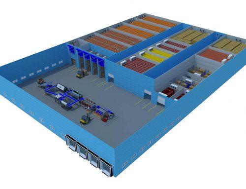 Distribution centre 5000 tons storage